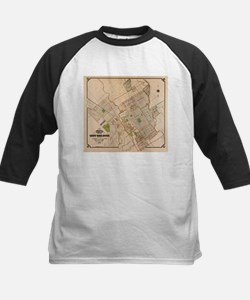 Vintage Map of San Jose California Baseball Jersey