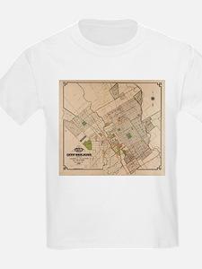 Vintage Map of San Jose California (1886) T-Shirt