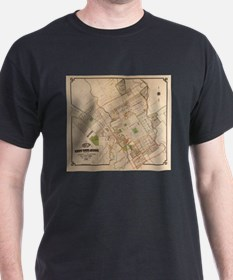 Vintage Map of San Jose California (1886) T-Shirt
