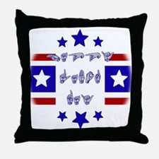 happy labor day Throw Pillow