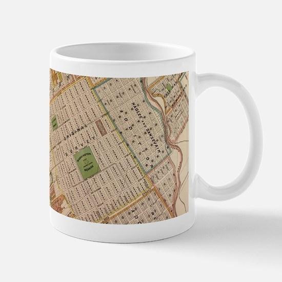 Vintage Map of San Jose California (1886) Mugs