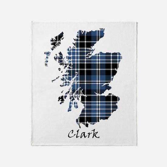 Map - Clark Throw Blanket