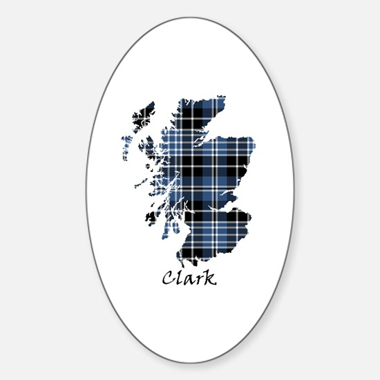 Map - Clark Sticker (Oval)