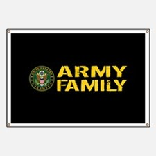 U.S. Army: Army Family (Black & Gold) Banner