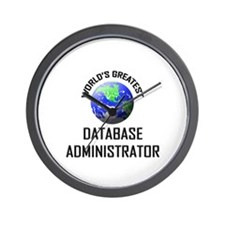World's Greatest DATABASE ADMINISTRATOR Wall Clock