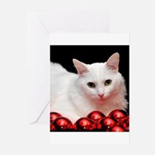 xmas_cat_rnd Greeting Cards