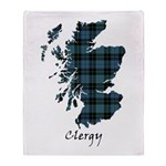 Map - Clergy Throw Blanket