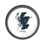 Map - Clergy Wall Clock
