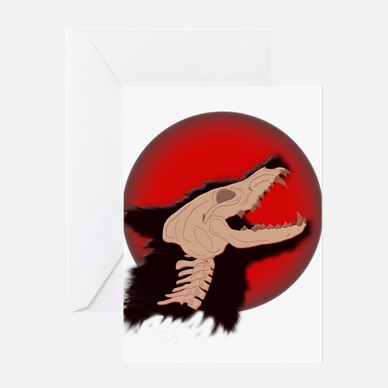 Blood Moon Werewolf Greeting Cards