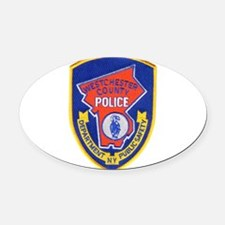 Westchester County Police Oval Car Magnet