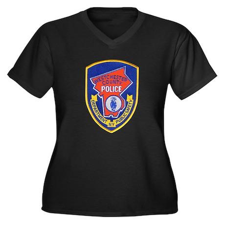Westchester Women's Plus Size V-Neck Dark T-Shirt