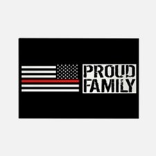Firefighter: Proud Family (Black Rectangle Magnet