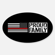 Firefighter: Proud Family (Black Fl Decal
