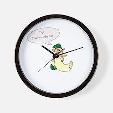 Naughty List Wall Clock