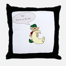 Naughty List Throw Pillow