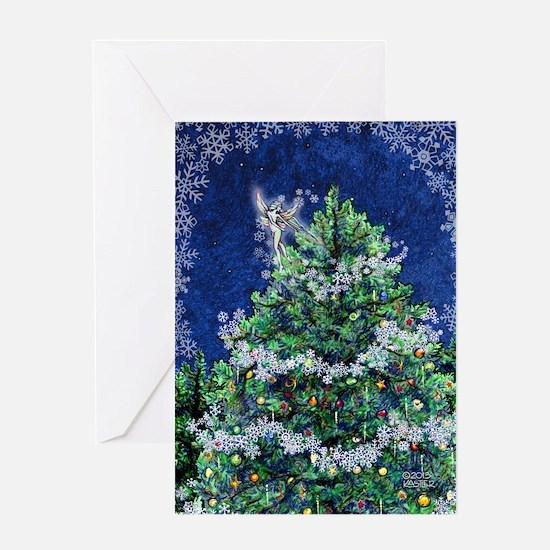 Christmas Tree Fairy Greeting Cards