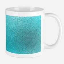 Aqua Blue Turquoise Teal Glitter Background T Mugs