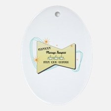 Instant Massage Therapist Oval Ornament