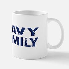 U.S. Navy: Navy Family (Blue & White) Mug