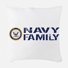 U.S. Navy: Navy Family (Blue & Woven Throw Pillow