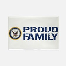 U.S. Navy: Proud Family (Blue & W Rectangle Magnet