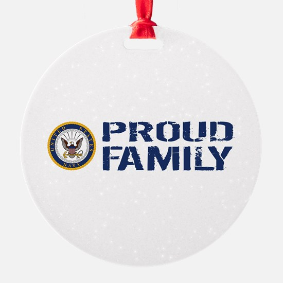 U.S. Navy: Proud Family (Blue & Whi Ornament