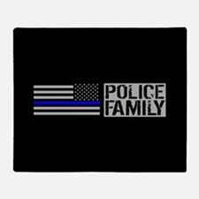 Police: Police Family (Black Flag, B Throw Blanket