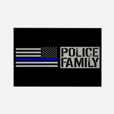 Police: Police Family (Black Flag Rectangle Magnet