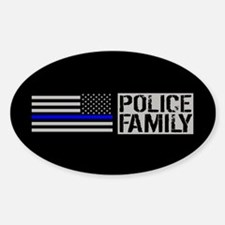 Police: Police Family (Black Sticker (Oval 10 pk)