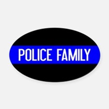 Police: Police Family (The Thin Bl Oval Car Magnet