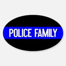 Police: Police Family (The Thin Blu Sticker (Oval)