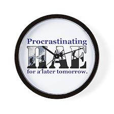HAE Procrastinates Wall Clock