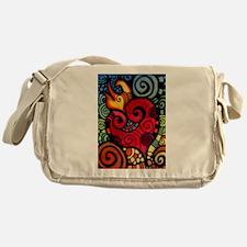 Heart on Fire Messenger Bag