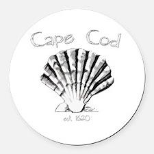 Cape Cod Est.1620 Round Car Magnet