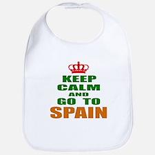 Keep calm and go to Spain Bib