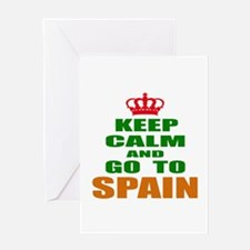 Keep calm and go to Spain Greeting Card