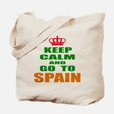 Keep calm and go to Spain Tote Bag