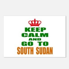 Keep calm and go to South Postcards (Package of 8)
