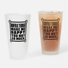 Norfolk Terrier Dog Make Me Happy Drinking Glass