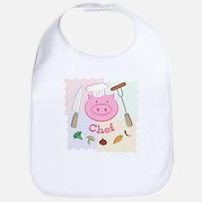 Pinky Chef Pig Bib