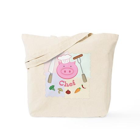 Pinky Chef Pig Tote Bag