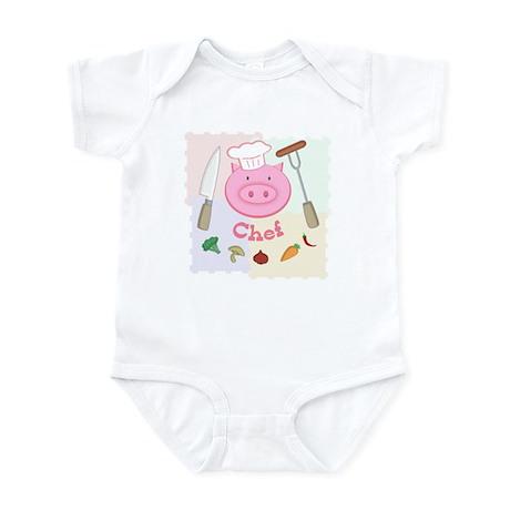 Pinky Chef Pig Infant Bodysuit