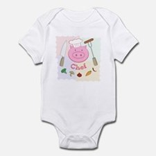 Pinky Chef Pig Infant Bodysuit
