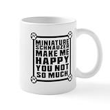 Miniature schnauzer Standard Mugs (11 Oz)
