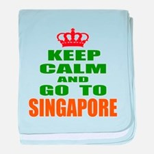 Keep calm and go to Singapore baby blanket