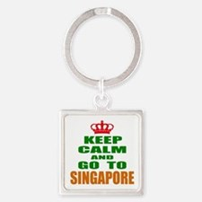 Keep calm and go to Singapore Square Keychain
