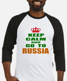 Keep calm and go to Russia Baseball Jersey