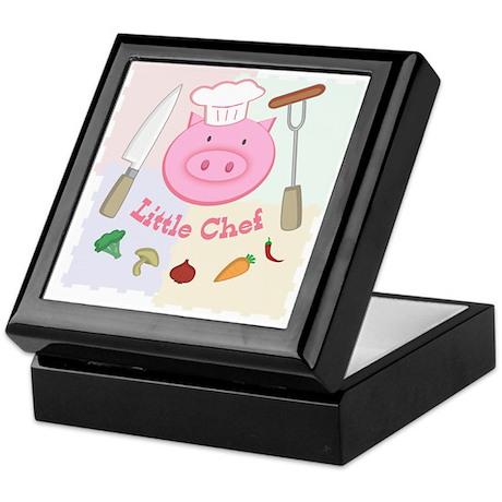 Little Pinky Chef Pig Keepsake Box