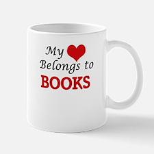 My heart belongs to Books Mugs