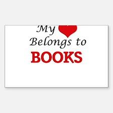 My heart belongs to Books Decal